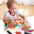 Красочные Деревянный Tangram Логические Головоломки Игрушки Тетрис Игры Дошкольные Образовательные Игрушки Для Детей детский Подарок