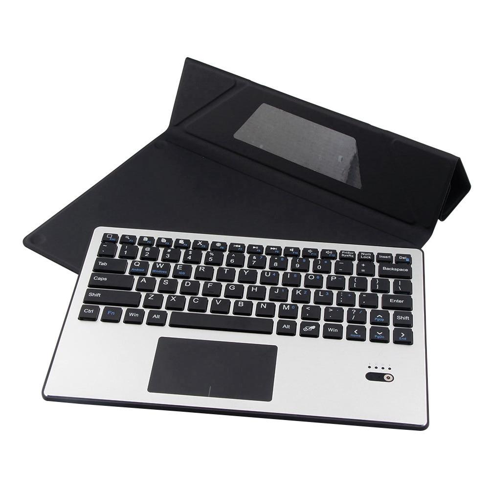 Pour Samsung Galaxy Tab S5e 10.5 T720 T725 amovible en aluminium Bluetooth Touchpad clavier russe + étui mince en cuir PU - 6