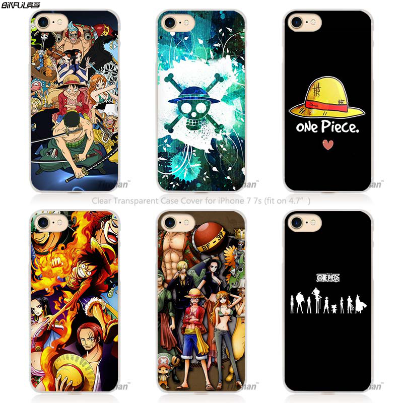 BiNFUL Hot Sale One Piece trafalgar Hard Transparent Phone Case Cover Coque for Apple iPhone 4 4s 5 5s SE 5C 6 6s 7 Plus