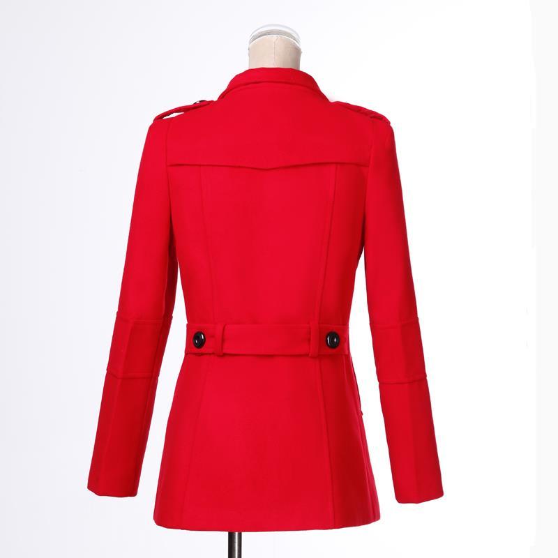 a32eaece5c6 Осень-зима новые модные женские шерстяное пальто Двубортный пиджак ...