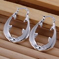 Couple Hollow Dolphin Hoop  earings 925 Pure silver Prata Princo e137 gift box Free Fashion New Jewelry