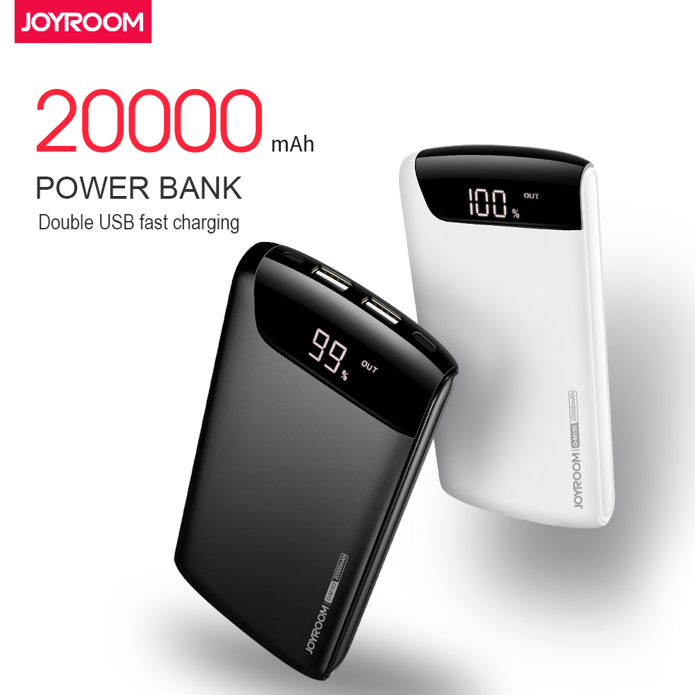 LCD 20000mah Power Bank Dual USB 5V/2.1A external mobile Quick charger Power Bank battery Portable power bank for iphone Samsung