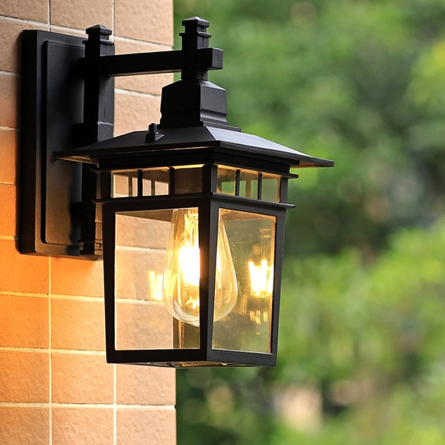 European Style Outdoor Wall Lamp Waterproof Special Outdoor Villa Courtyard  Chinese Corridor Balcony Terrace Lamp Exterior Lamp