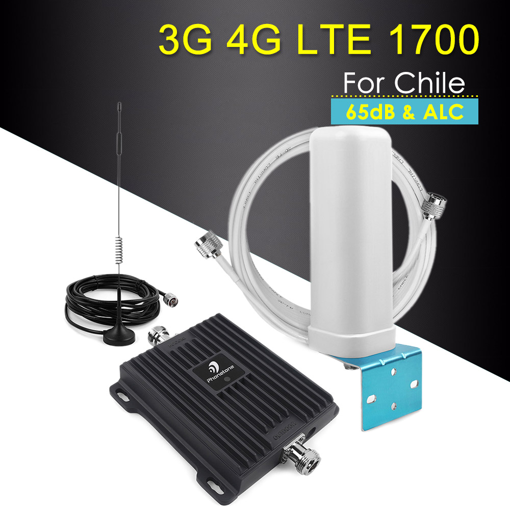 Cellular Signal Booster 4G LTE Amplifier Repetidor 1700MHz Band 4 Cell Phone Signal Repeater 3G Amplifier With Antennas Set