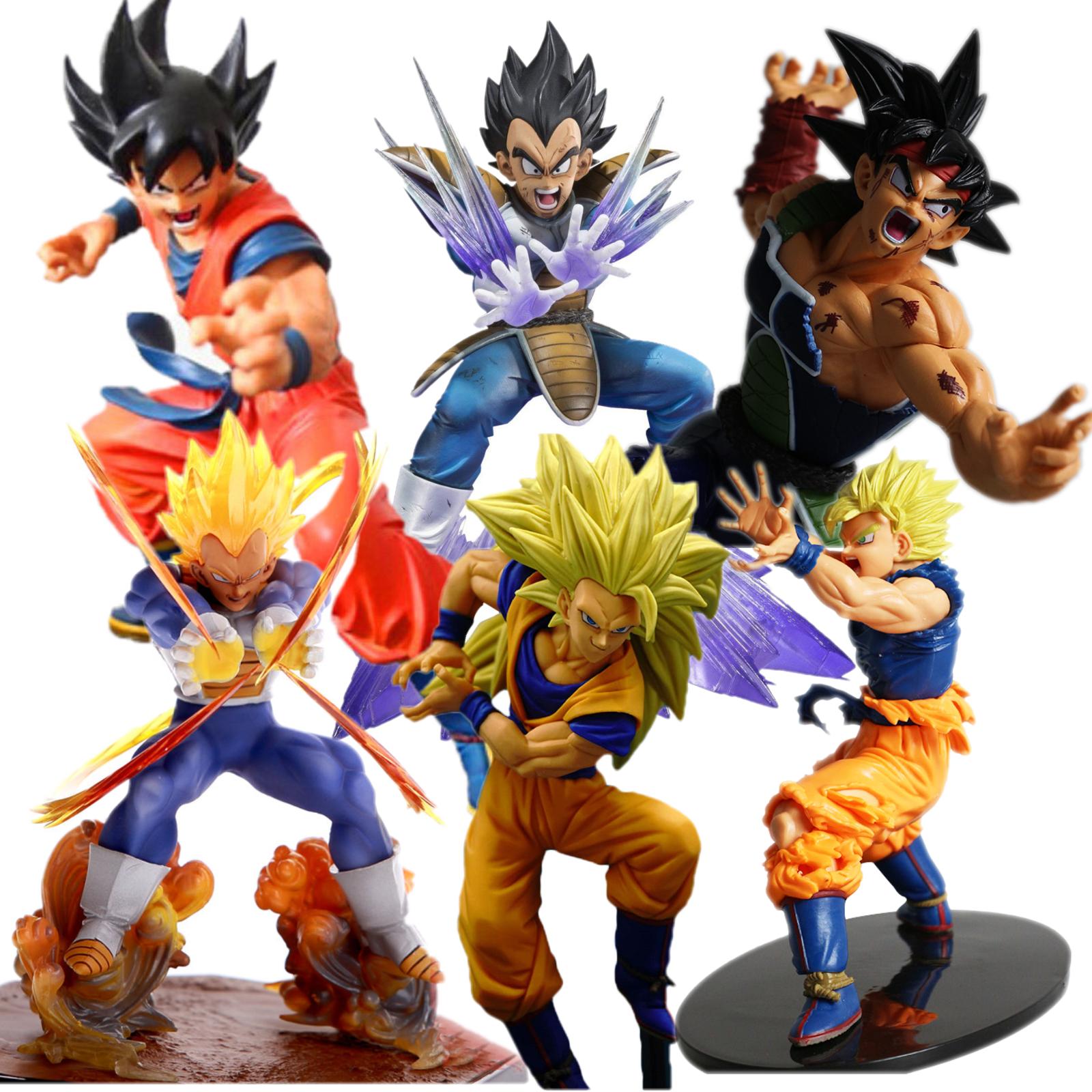 Dragon Ball Z Super Saiyan Son Goku Vegeta Trunks Action Figure Collection Giocattoli Bambola Figura Robot Kit Blocco di Nuovo in box