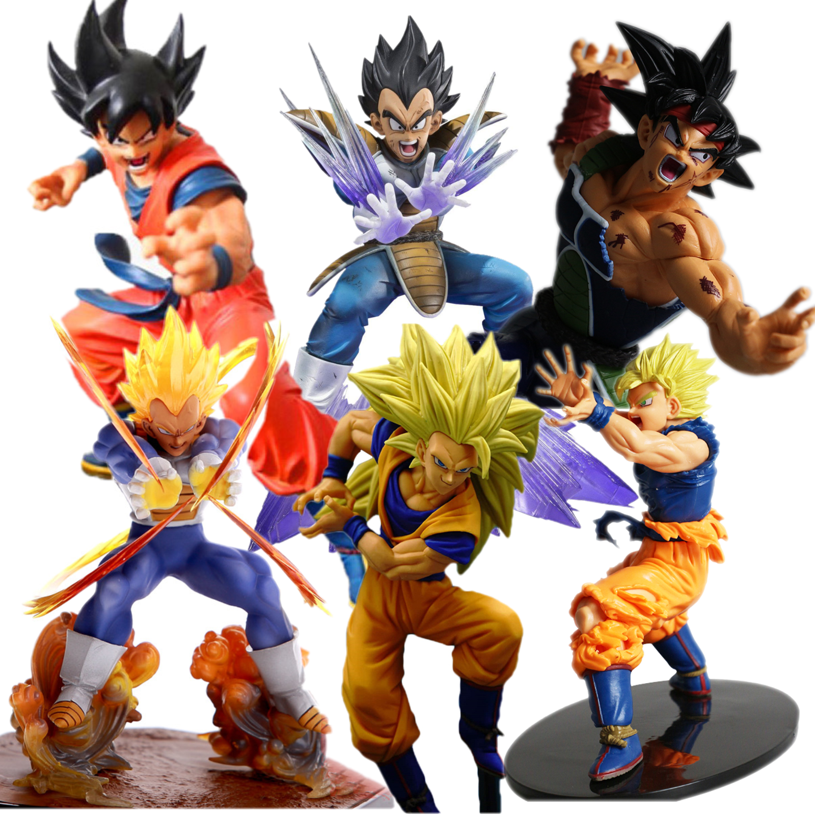Dragon Ball Z Super Saiyan Son Goku Vegeta Trunks Action Figure Collection Toys Doll Robot Figure Kit Block New in Box