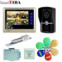 SmartYIBA 7inch TFT Touch Key LCD Screen Color Video Door Phone Doorbell Intercom System 700TVL Night