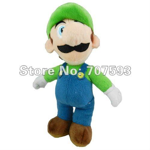 "Free Shipping by EMS Stuffed Animal Plush Toy 80pcs Super Mario 9"" Plush Dolls Mix order Mario & luiGi Toys Stuffed Gift A81-2"