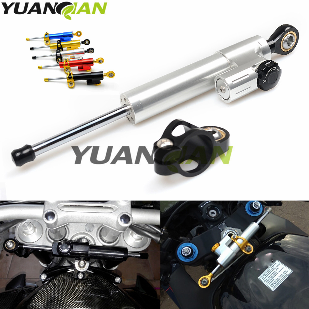Motorcycle moto Damper Steering Stabilizer Linear Reversed Safety Control for Yamaha KAWASAKI Suzuki GSX R 750 GSX 650 F GSF 600 universal motorcycle steering damper stabilizer linear reversed safety control