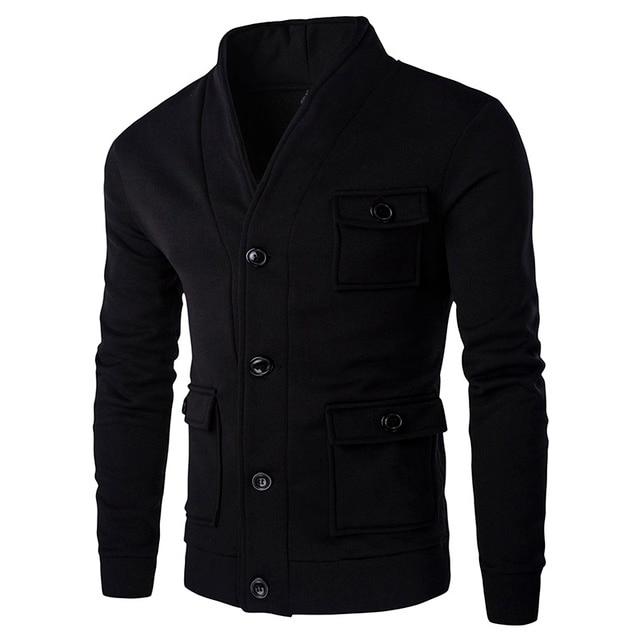 New Hoodies Baseball Jacket Men Sweatshirt Button Jacket Masculino Men Slim Fit Brand Stylish College Jacekt Veste Homme ZW118