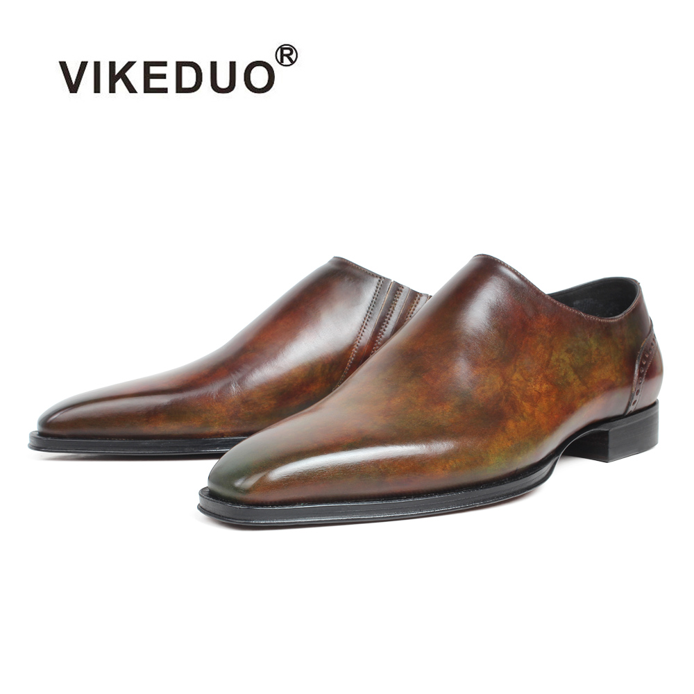 VIKEDUO Patina Fashion Loafers Shoes