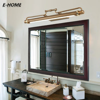 New bronz mirror light for bathroom European cabinet lights LED cosmetic front Full Copper Case waterproof Wall lamp