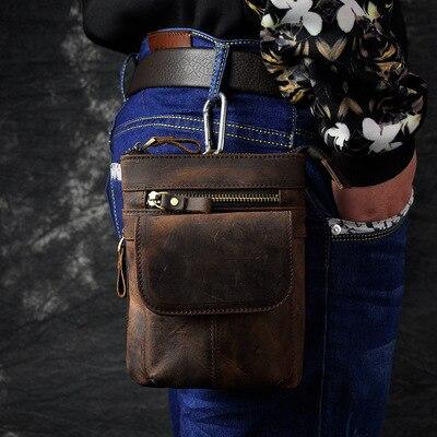 Retro oil wax Genuine leather Universal Outdoor Waist Phone Bag Pouch Case for Xiaomi Redmi Note 3 Pro Mi Mix Mi Max Redmi Pro