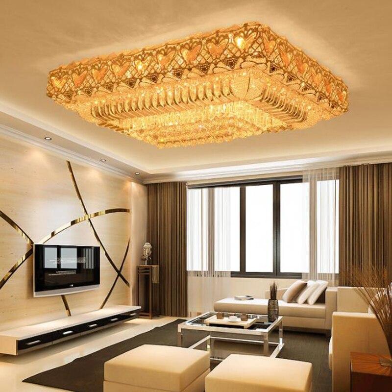 Современный светодиодный потолочный светильник с кристаллами, Роскошные хрустальные светильники на поверхности, гостиной, виллы, потолок