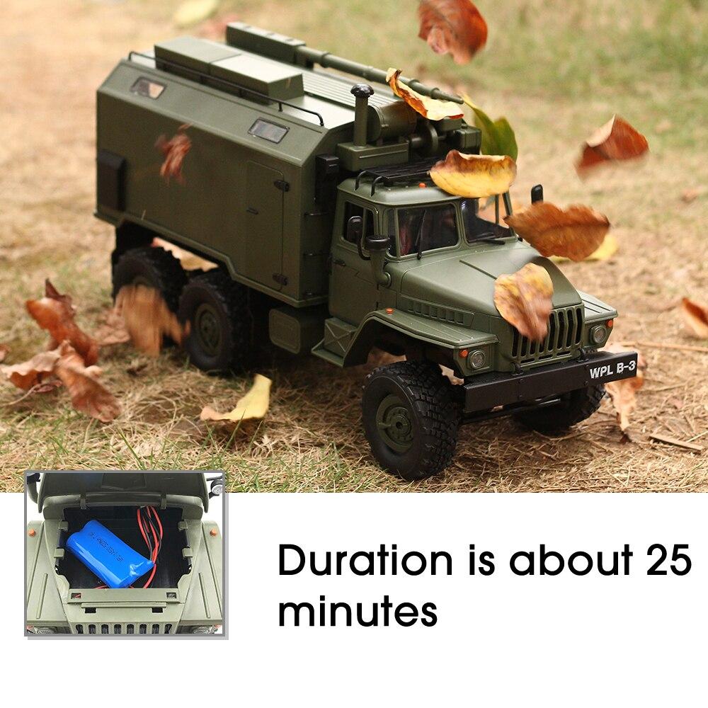 WPL RC camión B36 Ural 1/16 2,4G 6WD de Control remoto Camión Militar Rock Crawler coche Hobby juguetes para niños carro eletrico - 3