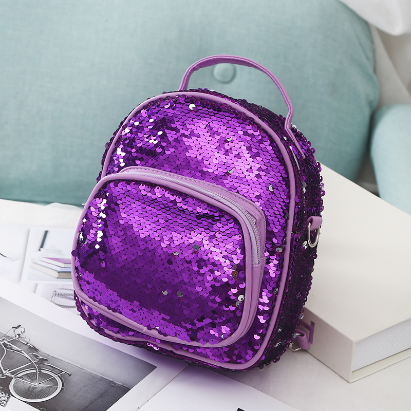 New Mini Women Sequins Backpacks Children School Bag For Teenage Travel Backpack Rucksack Portable Shoulder Bag For Lady Girls