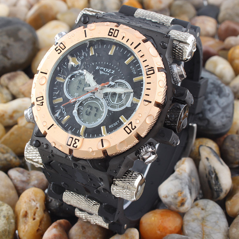 Punk style 194 g weight Big mens watches Top brand luxury