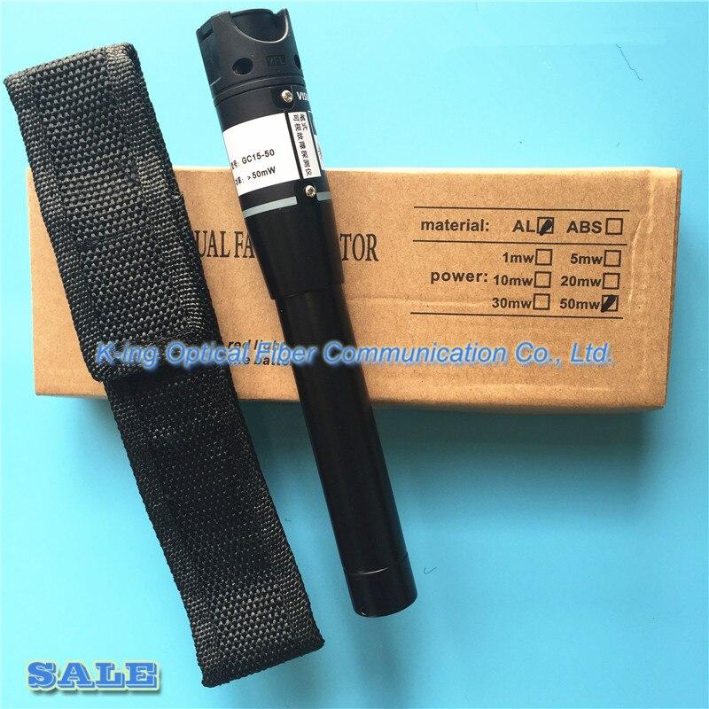 King GC-50 honnête 50 mW VFL 50 km Fiber optique détecteur de défaut visuel stylo sortie pw:> 50 mW localisateur de défaut visuel - 2