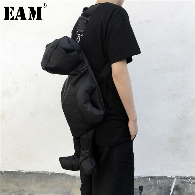 EAM High Quality 2019 Four Seasons Black Fashion New Casual Wild Adjustable Multifunction Convenience Accessories