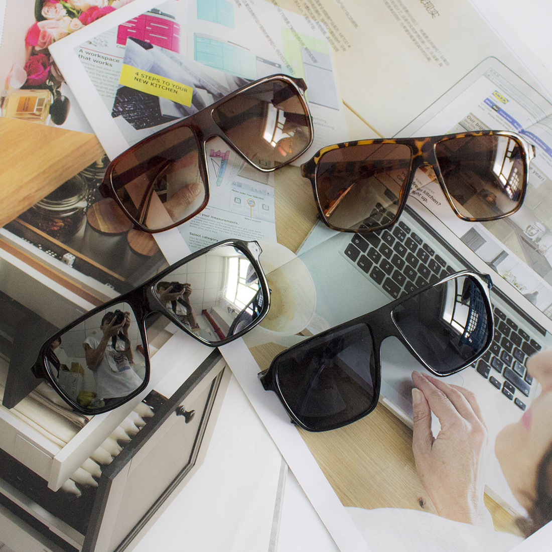 f424dc4e9d Nueva Fahion cuadrados gafas de sol hombres marca diseñador gafas de sol de  la buena calidad
