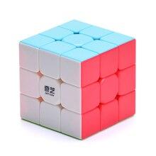 Stickerless Magic kocka Speed Puzzle kocka Vicces játékok 3x3x3 nem matrica Magic Cube oktatási játék gyerekeknek születésnapi