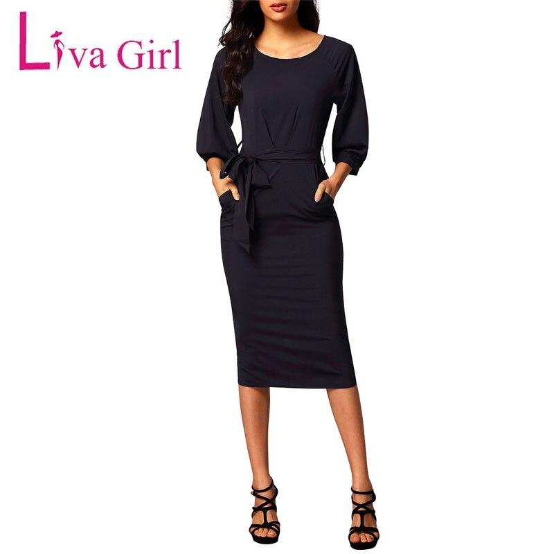 Liva Kız Kadın Midi Elbise Zarif Peplum Vintage Elbiseler Casual Çalışma Ofisi Parti Bodycon Kemer Kalem Kılıf Elbise