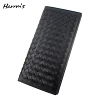 Harrms Luxury Wallet 100 Pure Genuine Leahter With Sheepskin Business Men Brown Wallets Soft Hand Made