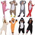 Navidad Animales Unicornio Pijamas Stitch Jirafa Unisex Adultos Cosplay Animal de la Historieta Onesies Pijamas Sudaderas Con Capucha Para Hombres de Las Mujeres