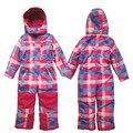 Crianças/Criança Terno De Esqui No Inverno Neve terno Uma Peça Meninas Outerwear Casacos Quentes Crianças Coletes À Prova D' Água & Macacão de Esqui