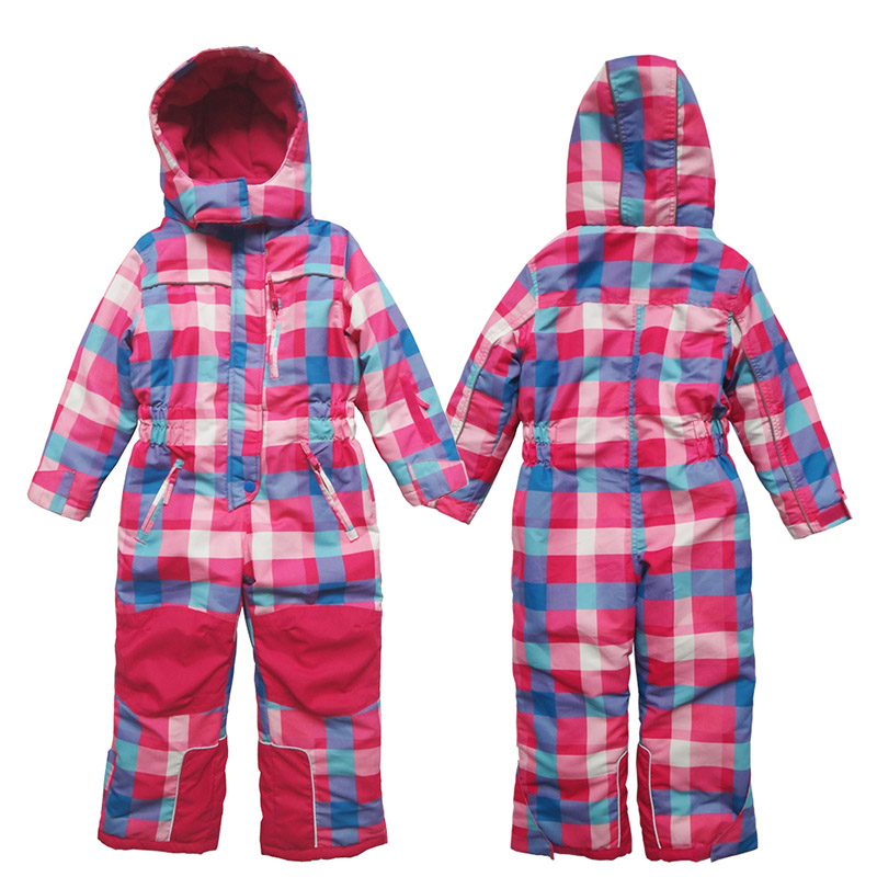 Kids Toddler Winter Ski Suit Snow suit One Piece Girls Skiing Outerwear Warm Coats Children Waterproof