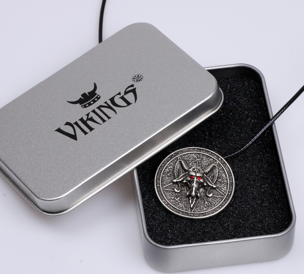 US $2 09 30% OFF|Baphomet Amulet Sabbatic Goat Necklace Pendant Protection  Talisma Wiccan Pendant Pagan Magical Ritual Jewelry Lead Free-in Pendant