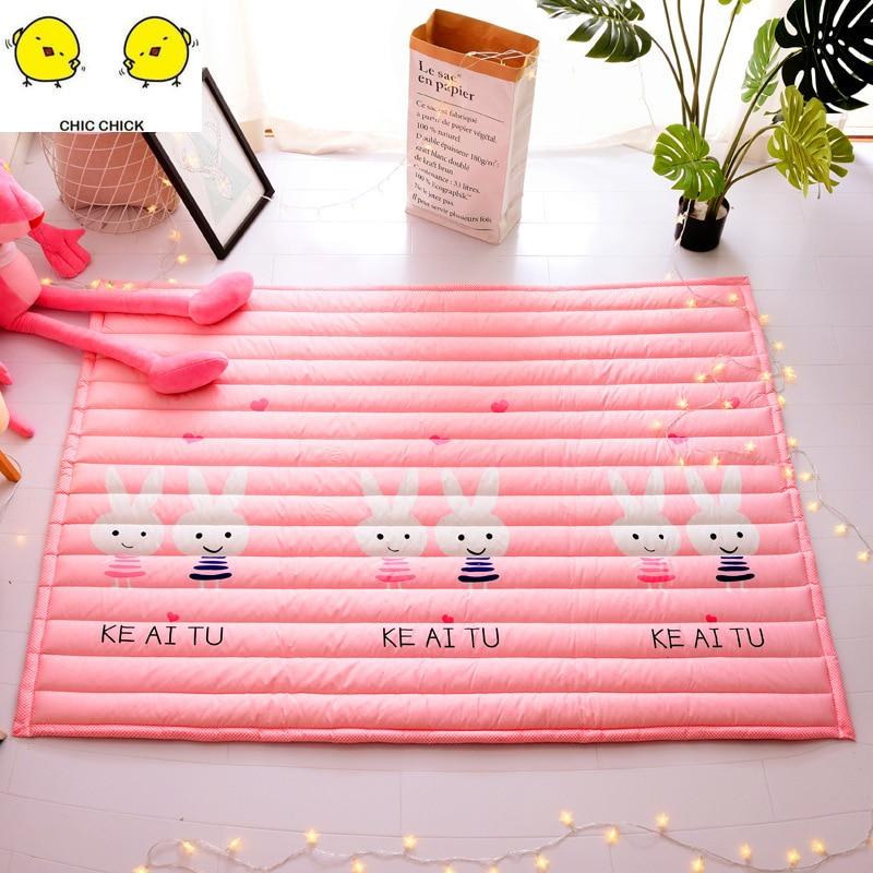 Grande taille enfants tapis jouets enfants tapis bébé tapis de jeu en coton tapis Puzzle développement tapis tapis de jeu sac de rangement jouets