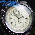 Sport White 6 hands Men Automatic Mechanical Watch