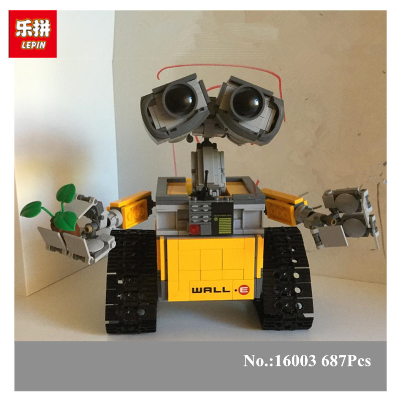 New 687pcs Lepin 16003 Idea Lovable Robot WALL E Building Block Minifigures With Legoelieds 20313