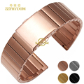 stainless steel bracelet solid metal Watchband watch strap silver black gold rose gold 16 18 20 22mm wristwatches band wristband