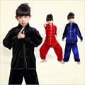 Adult Children boy girl velvet thick Chinese traditional Wushu Costume Kimono clothing Kung Fu Suit Tai Chi Martial Art Uniform