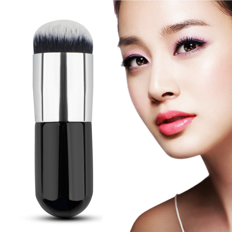 Makeup Brushes Chubby Pier Foundation Brush Kabuki Flat Cream New Nylon Hair Professional Cosmetic Brush Wood Handle Portable