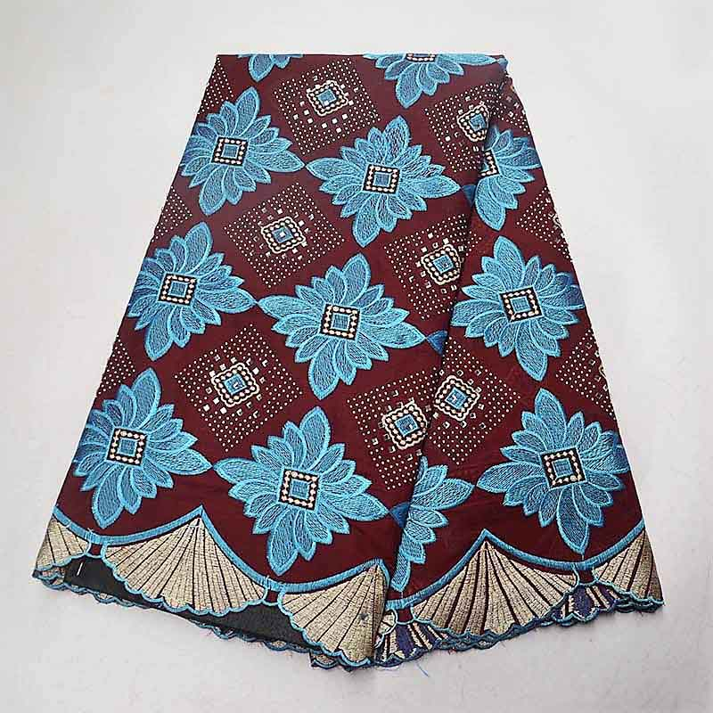 High Quality Stones Purple Swiss Voile Lace 2019 African Voile Swiss Lace Fabric African Cotton Voile Lace Fabric For Men/women-in Lace from Home & Garden    2