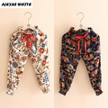 Baby Anti-Mosquito Retro Pants Girls 2017 Summer Children's Clothes Baby Kids Drawstring Trousers Fashion Pencil Pant Girl
