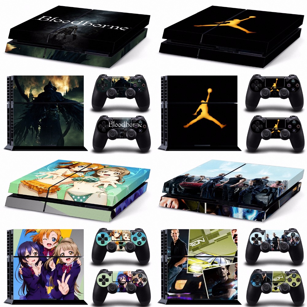 Call of duty black anime girls kingdom hearts final fantasy ps4 skin sticker for sony playstation 4 sticker wrap decal