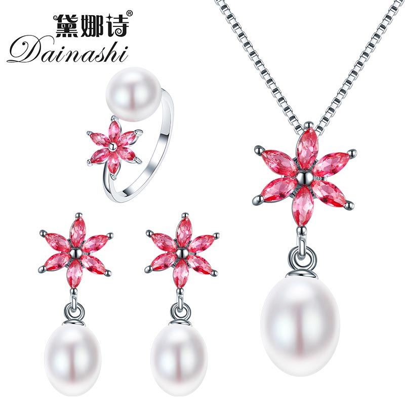 Dainashi 2016 New Jewelry Set For Women Elegant 925 Sterling Silver font b Pendant b font
