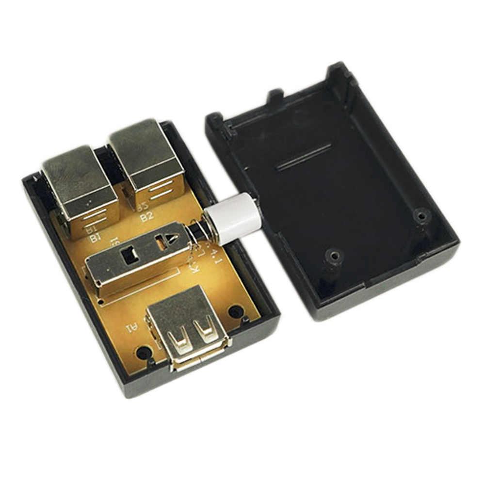 USB Обмен хаб разъемов коробка концентратор 2 порта ПК компьютерный Сканнер принтер руководство Горячая Акция оптовая продажа