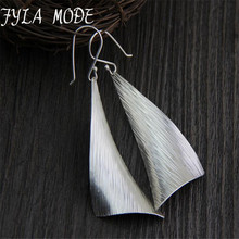 925 Silver Earring Women Vintage S925 Thai Sterling Triangle Drop Earrings 57*24MM 8.80G WTH005