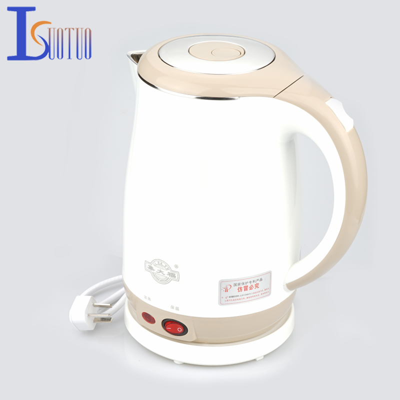 JDC-18V Stainless Steel Electric Kettle With Auto-Off Function Quick Heat Water Heating Kettle apricot 1.8L cukyi stainless steel 1800w electric kettle household 2l safety auto off function quick heating red gold