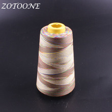 ZOTOONE 1500M/Roll 40/2 Sewing Polyester Threads Rainbow Cord Hand Thread For Leather Machine Accessorie Supplies