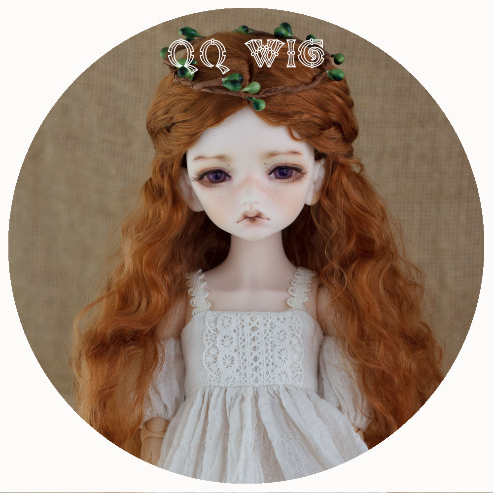 2018 New Arrival 1/3 1/4 1/6 Bjd Wig Mohair Sd Fashion Brown Brown Wavy Hair Wig Free Shipping