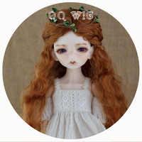 2019 nouveauté 1/3 1/4 1/6 1/8 Bjd perruque Mohair Sd mode perruque cheveux ondulés marron livraison gratuite