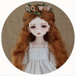 2020 جديد وصول 1/3 1/4 1/6 1/8 Bjd شعر مستعار الموهير Sd الأزياء براون متموجة الشعر الباروكة الحرة