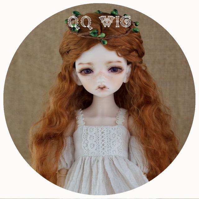 2020 yeni varış 1/3 1/4 1/6 1/8 Bjd peruk tiftik Sd moda dalgalı saç peruk