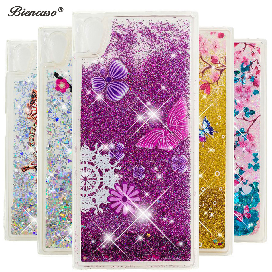 Glitter Sequin Liquid Quicksand Case For Sony Xperia L1 L2 XA1 Plus XA2 Ultra XZ Premium XZ1 XZ2 Compact XZ XZs <font><b>Fundas</b></font> Cover B31 image